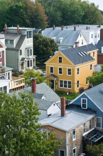 Portland Maine Rooftops on Munjoy Hill