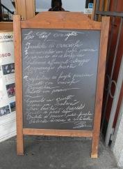 Menu Barchetta II
