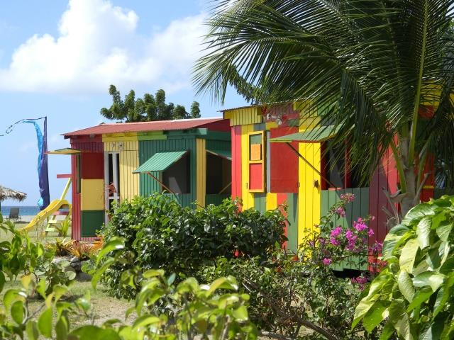 Beach shacks Nevis