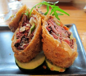 Pastrami eggrolls at Red Farm nyc