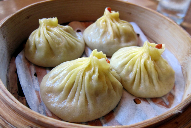Soup dumplings at Red Farm