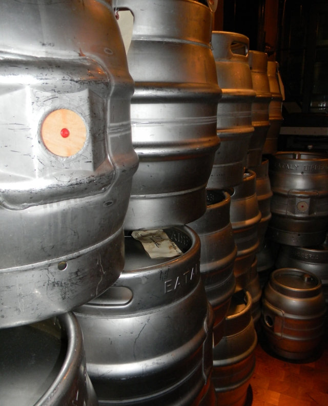 Beer casks at Eataly