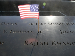 Flag and names 9-11