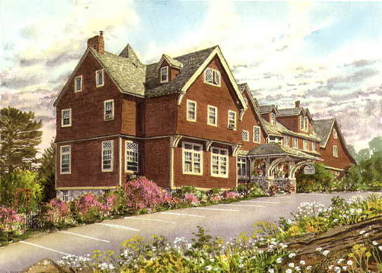 Cleftstone Manor in an early watercolor