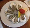 Plate of Damariscotta oysters