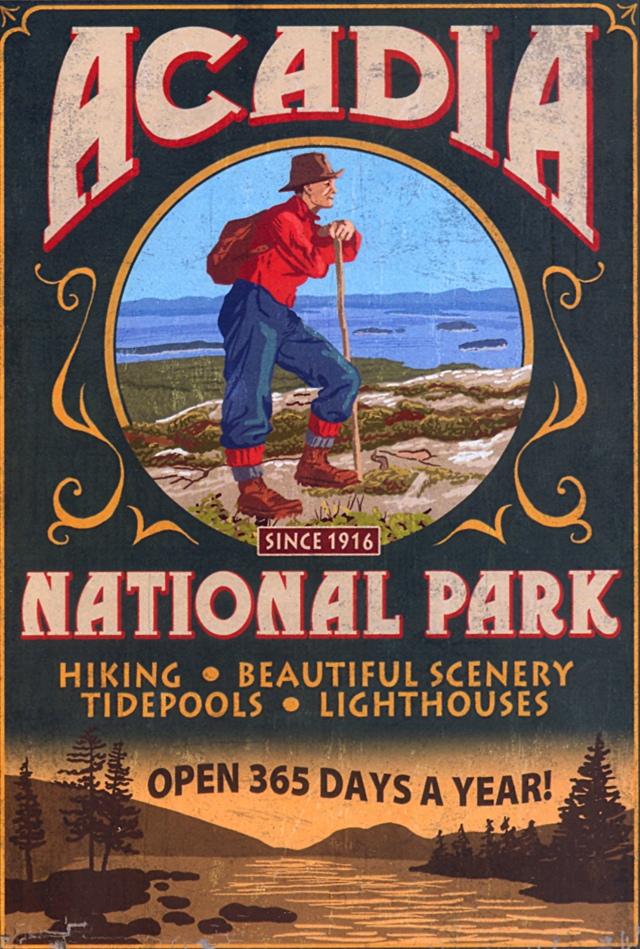 Vintage Sign Acadia