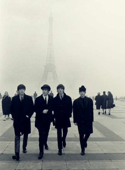 Beatles and Eiffel Tower