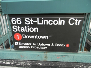 Lincoln Center subway