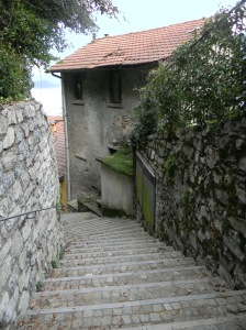 111 steps into town