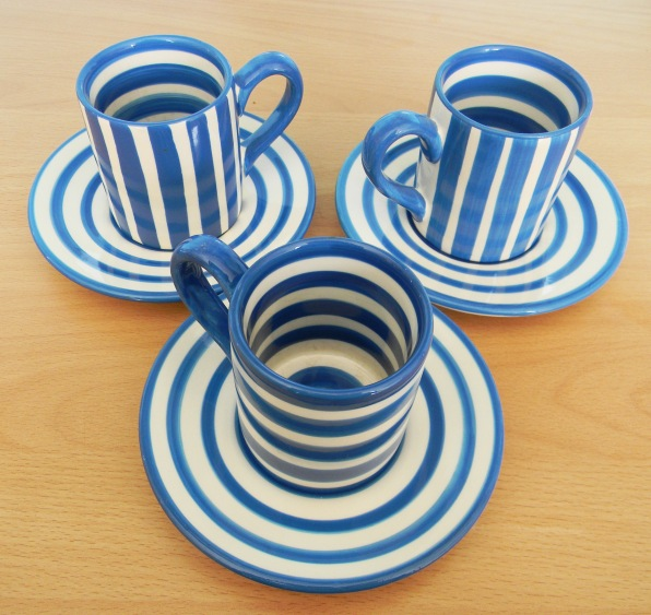 Blue espresso cups
