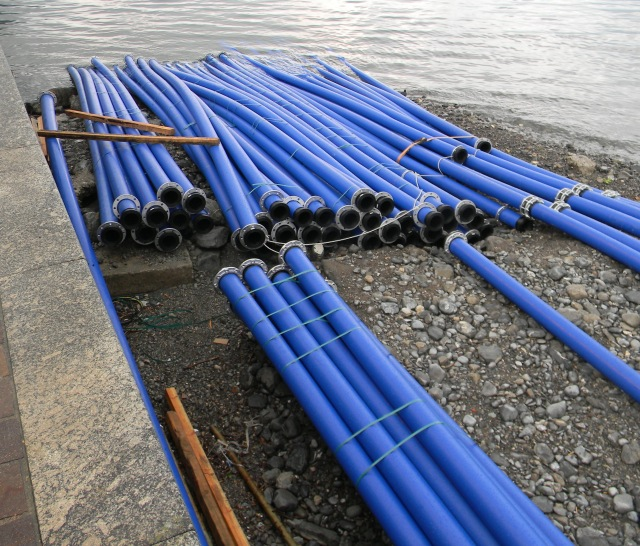 Blue water pipes