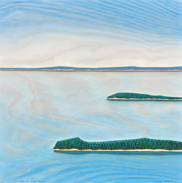 Two Islands with Waves, 2012 by Eric Hopkins. Photo by William Thuss